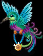 Purple hummingbird single