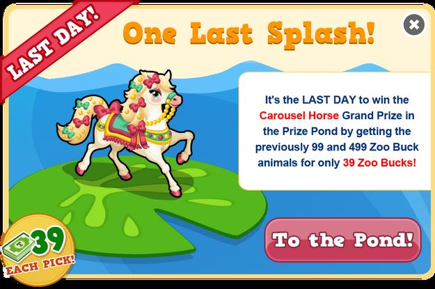 Prize pond carousel horse last modal