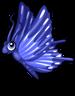 True blue butterfly single