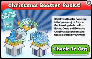 Booster packs christmas modal