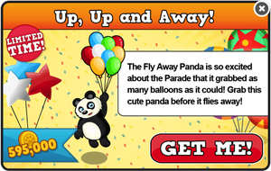 Fly away panda modal