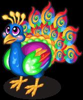 Swirl peacock single