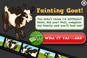 Fainting goat animators modal