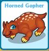 Horned gopher card