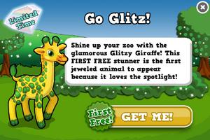 Glitzy giraffe modal