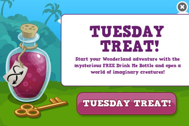 Wonderland treat modal
