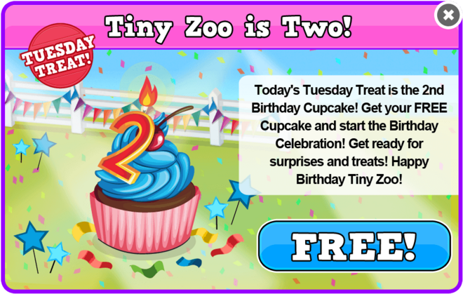 Birthday 2 tuesday treat modal