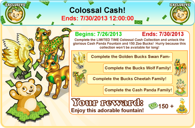 Colossal cash collection goal modal