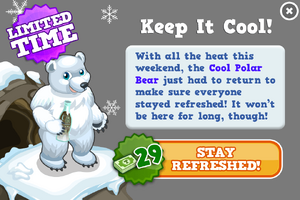 Cool polar bear modal