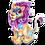 Goal party lion icon