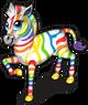 Rainbow zebra (rainbows) single
