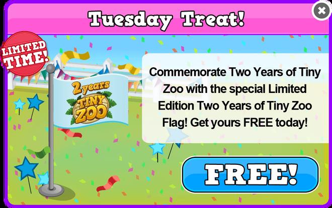Birthday 2 tuesday treat 2 modal