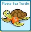 Floaty sea turtle card