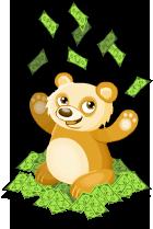 Cash panda static