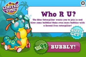 Blue caterpillar modal