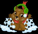 Christmas chipmunk an