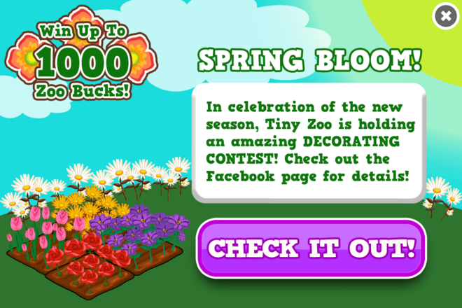 Flower decorating contest modal