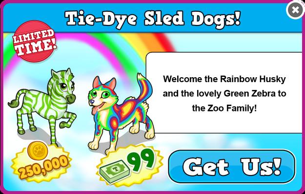 Green zebra modal