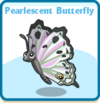 Pearlescent butterfly card