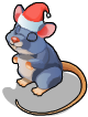 Christmas village mouse an
