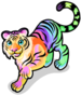 Rainbow glow tiger single