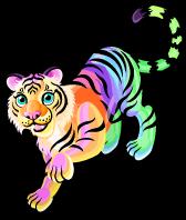 Rainbow glow tiger single