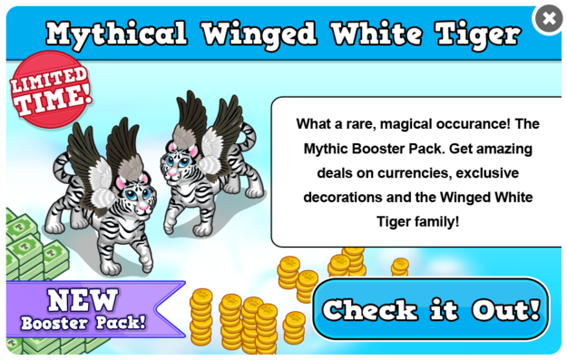 Winged white tiger modal