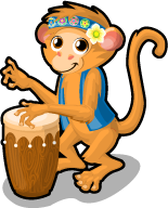 Drum circle monkey single