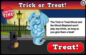 Ghost elephant modal