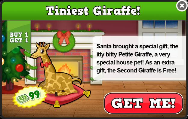 Petite giraffe modal