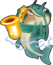 Jazz sax catfish single