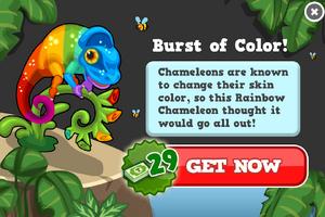 Rainbow chameleon modal