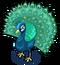 Indian Pea Fowl single
