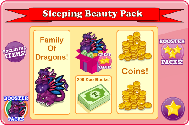 Fairytale dragon booster pack modal