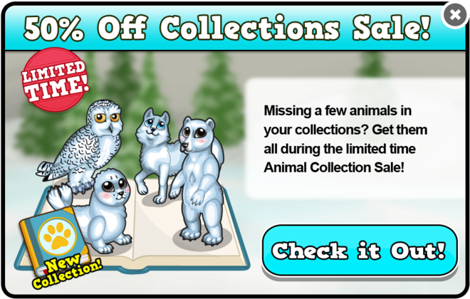Arctic collection modal