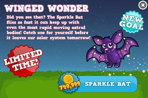 Sparkle bat modal
