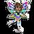 Goal rainbow glow fairy icon
