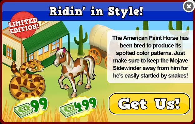 Paint horse modal