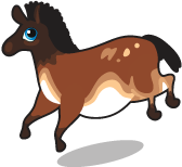 Cave painting horse single