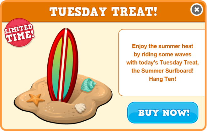 Beach tuesday treat modal