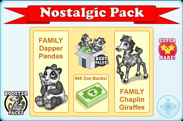 Booster pack nostalgic pack modal