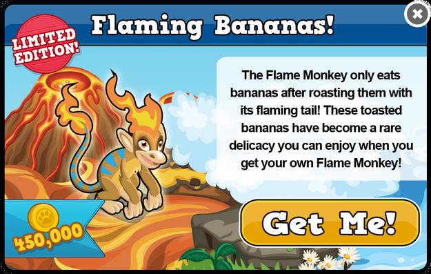 Flame monkey modal