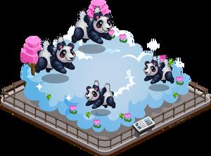 Flying panda family