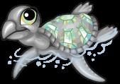 Opal sea turtle single