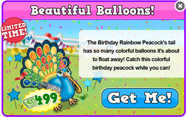 Party hat peacock modal