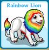 Rainbow lion card