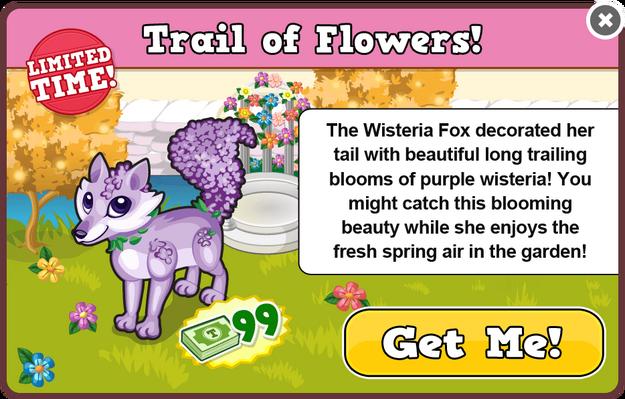 Wisteria fox modal