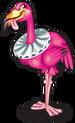 Croquet flamingo single