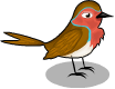 English robin static