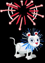 Fireworks lion an